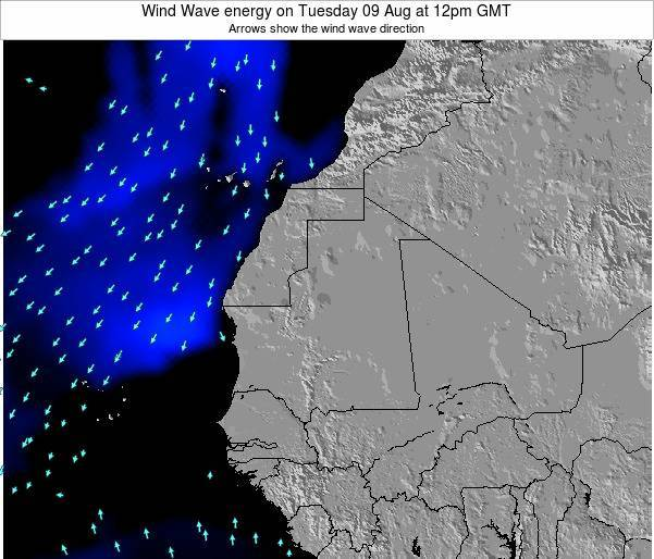 Sierra Leone Wind Wave energy on Thursday 24 Aug at 12am GMT