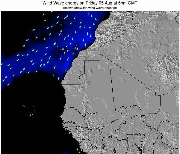 Sierra Leone Wind Wave energy on Friday 14 Mar at 6pm GMT