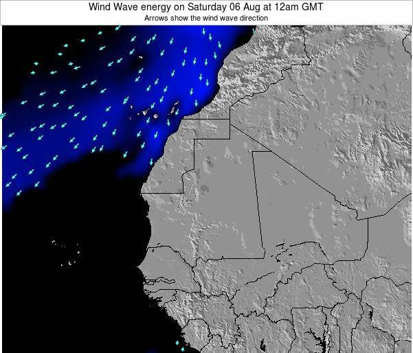 Sierra Leone Wind Wave energy on Tuesday 26 Aug at 12am GMT