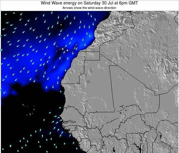 Sierra Leone Wind Wave energy on Saturday 02 May at 6am GMT