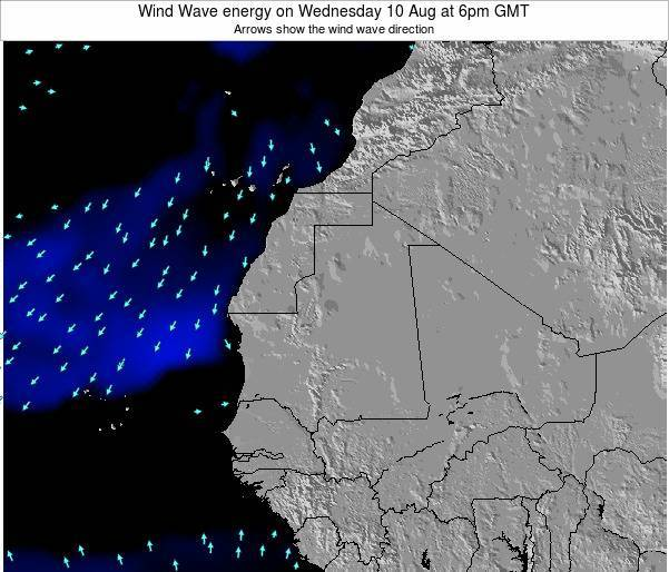 Sierra Leone Wind Wave energy on Friday 25 Apr at 12am GMT