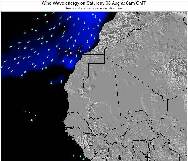 Sierra Leone Wind Wave energy on Monday 31 Jul at 6am GMT