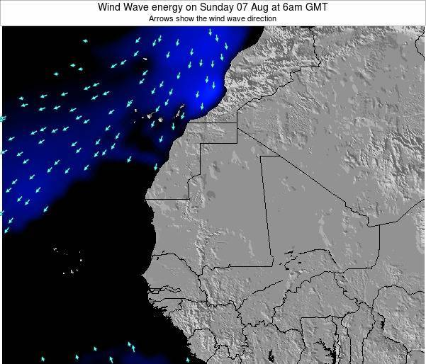 Sierra Leone Wind Wave energy on Wednesday 18 Dec at 6pm GMT