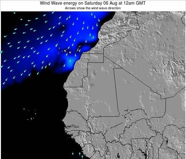 Sierra Leone Wind Wave energy on Friday 14 Mar at 12am GMT