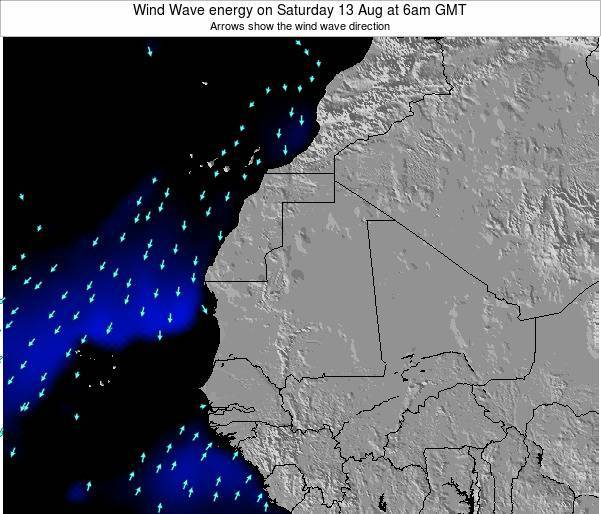 Sierra Leone Wind Wave energy on Thursday 01 May at 12pm GMT