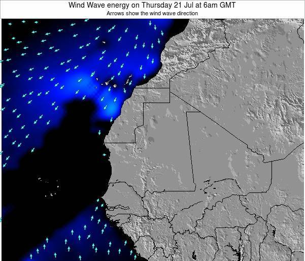 Sierra Leone Wind Wave energy on Sunday 29 Oct at 12pm GMT
