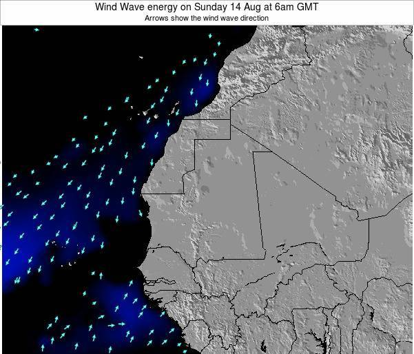 Sierra Leone Wind Wave energy on Tuesday 28 May at 12pm GMT