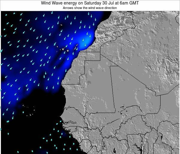 Sierra Leone Wind Wave energy on Tuesday 05 Aug at 6am GMT