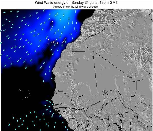Sierra Leone Wind Wave energy on Sunday 26 Feb at 12pm GMT