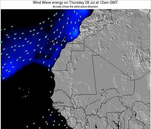 Sierra Leone Wind Wave energy on Friday 01 Aug at 12pm GMT