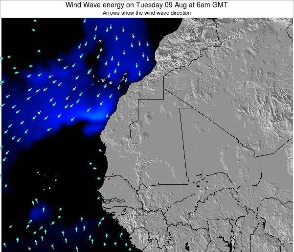 Senegal Wind Wave energy on Monday 20 May at 12am GMT
