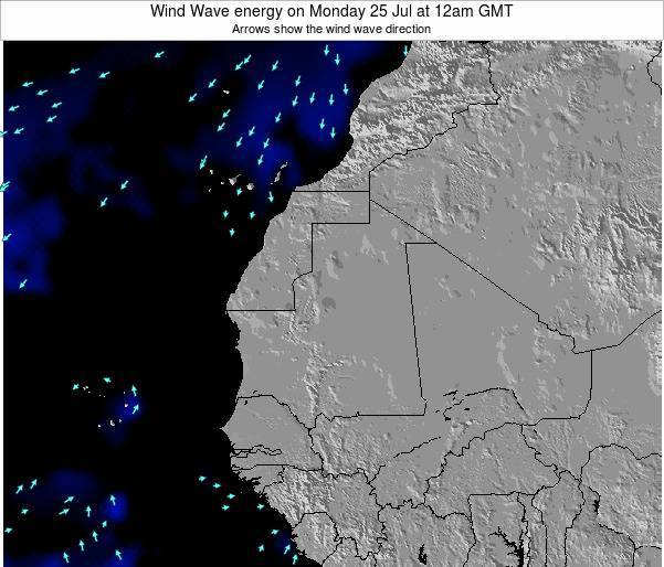 Sierra Leone Wind Wave energy on Sunday 09 Mar at 12pm GMT