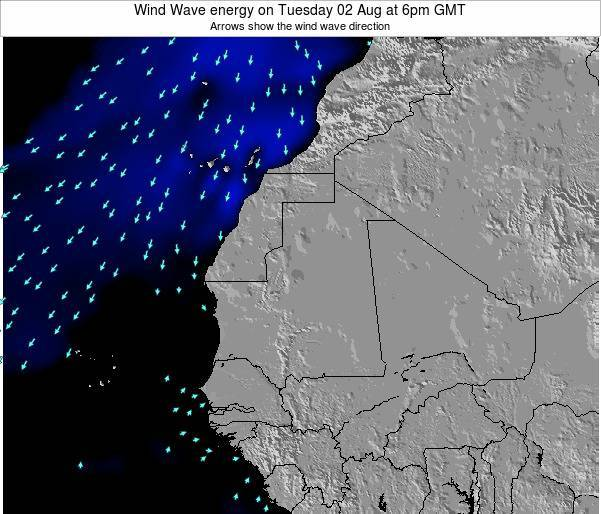 Sierra Leone Wind Wave energy on Friday 18 Apr at 6pm GMT