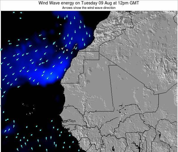 Sierra Leone Wind Wave energy on Monday 30 Nov at 6am GMT