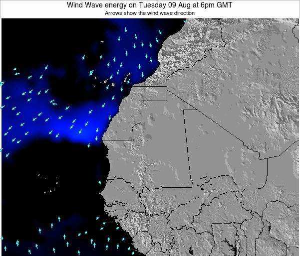 Sierra Leone Wind Wave energy on Saturday 21 Apr at 12pm GMT map