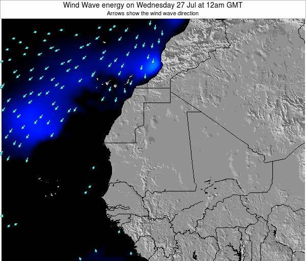Sierra Leone Wind Wave energy on Monday 02 Mar at 12pm GMT