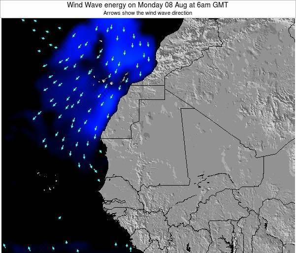Sierra Leone Wind Wave energy on Sunday 29 Mar at 6am GMT