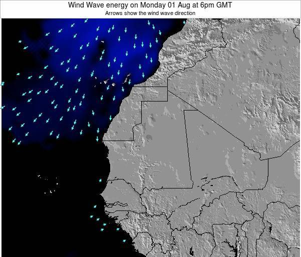 Senegal Wind Wave energy on Sunday 26 May at 6am GMT