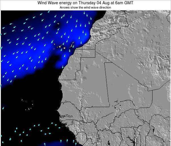 Sierra Leone Wind Wave energy on Friday 09 Oct at 6am GMT