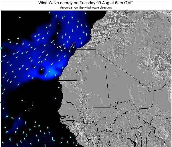 Sierra Leone Wind Wave energy on Sunday 27 Jul at 12am GMT