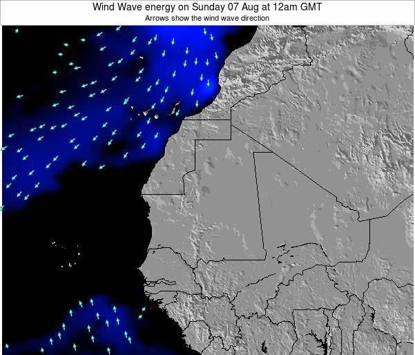 Sierra Leone Wind Wave energy on Sunday 27 Apr at 12pm GMT