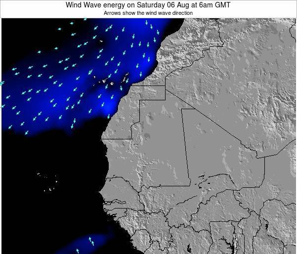 Sierra Leone Wind Wave energy on Sunday 09 Mar at 6pm GMT