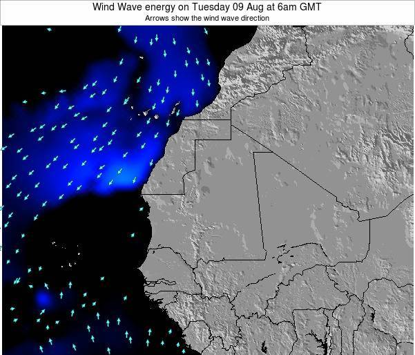 Sierra Leone Wind Wave energy on Wednesday 22 May at 12am GMT