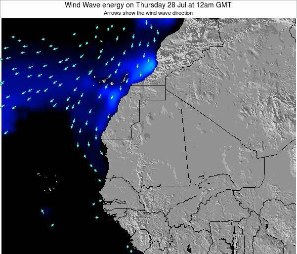 Sierra Leone Wind Wave energy on Sunday 03 Aug at 6am GMT