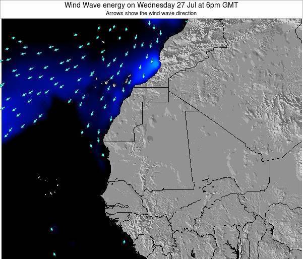 Sierra Leone Wind Wave energy on Wednesday 30 May at 12pm GMT map
