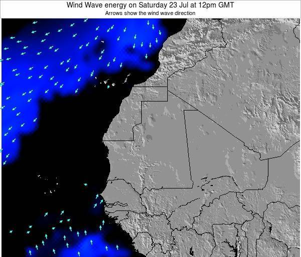 Sierra Leone Wind Wave energy on Thursday 31 May at 12am GMT map