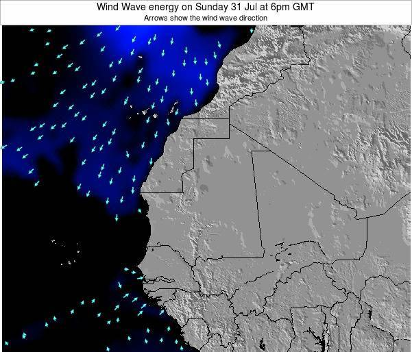 Sierra Leone Wind Wave energy on Wednesday 23 Apr at 12am GMT
