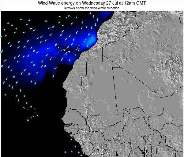 Sierra Leone Wind Wave energy on Wednesday 30 May at 6pm GMT map
