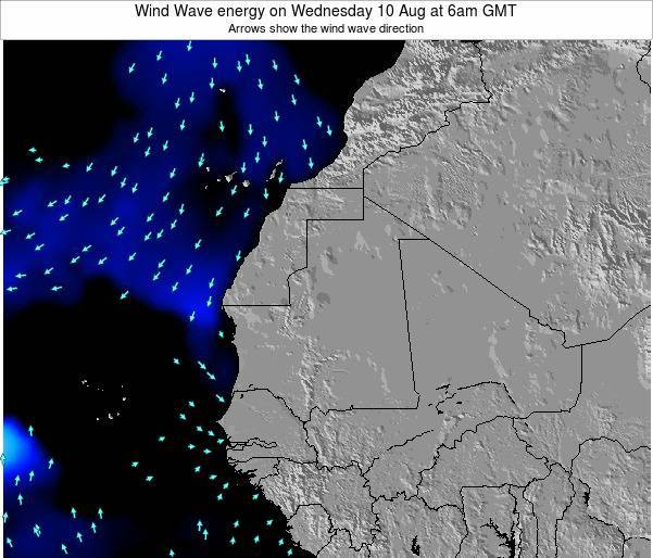 Sierra Leone Wind Wave energy on Friday 01 Aug at 6am GMT