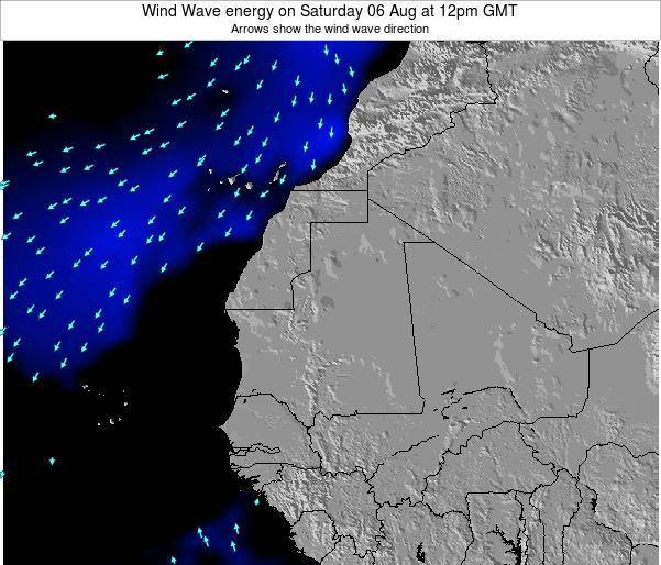 Sierra Leone Wind Wave energy on Thursday 22 Aug at 12pm GMT map