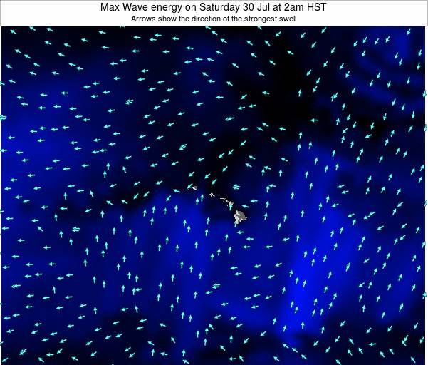 Hawaii, United States Max Wave energy on Wednesday 29 May at 2am HST