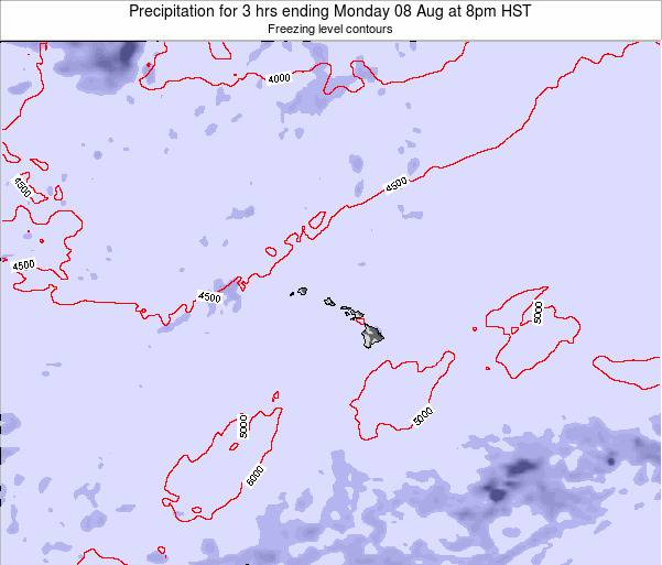 Hawaii, United States Precipitation for 3 hrs ending Sunday 26 May at 8pm HST