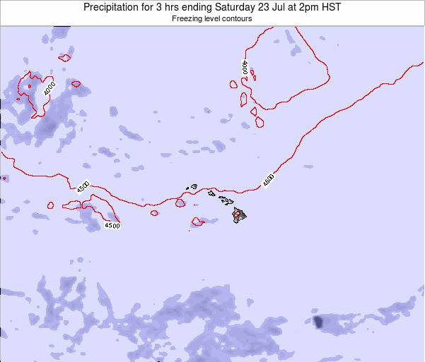 Hawaii, United States Precipitation for 3 hrs ending Tuesday 21 May at 2am HST
