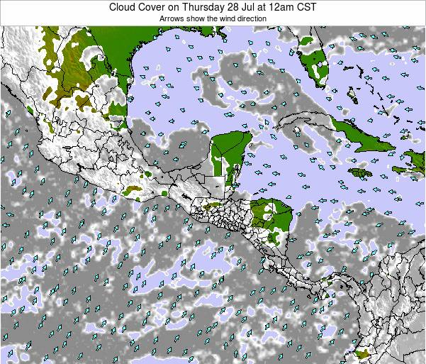 Costa Rica Cloud Cover on Sunday 15 Dec at 6pm CST