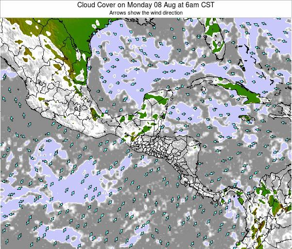 Costa Rica Cloud Cover on Friday 27 Jan at 12pm CST