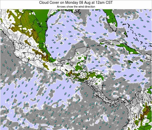 Costa Rica Cloud Cover on Saturday 14 Dec at 6pm CST