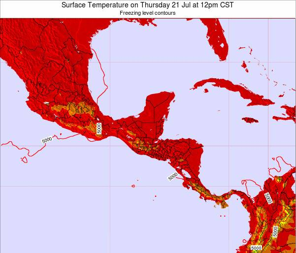Guatemala Surface Temperature on Friday 18 Apr at 6am CST