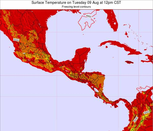 Guatemala Surface Temperature on Monday 30 Nov at 6pm CST