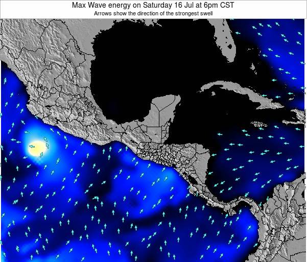 Honduras Max Wave energy on Sunday 26 May at 12am CST map