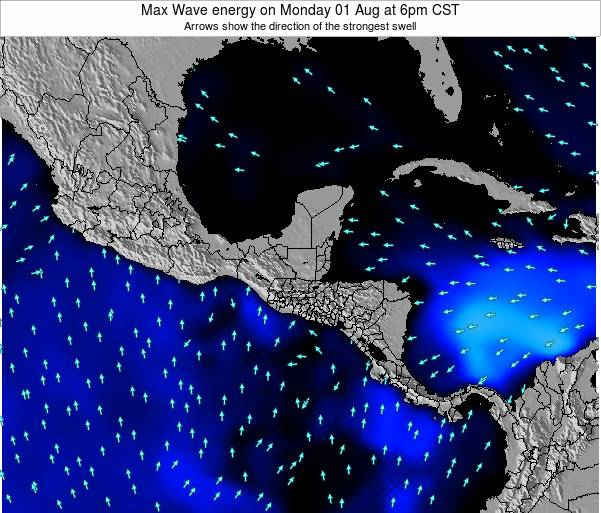 Honduras Max Wave energy on Wednesday 06 Aug at 12pm CST
