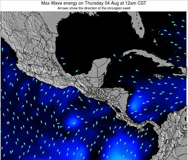 El Salvador Max Wave energy on Tuesday 23 Dec at 6pm CST