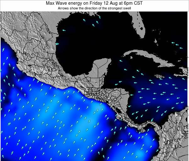 El Salvador Max Wave energy on Friday 31 May at 6pm CST map
