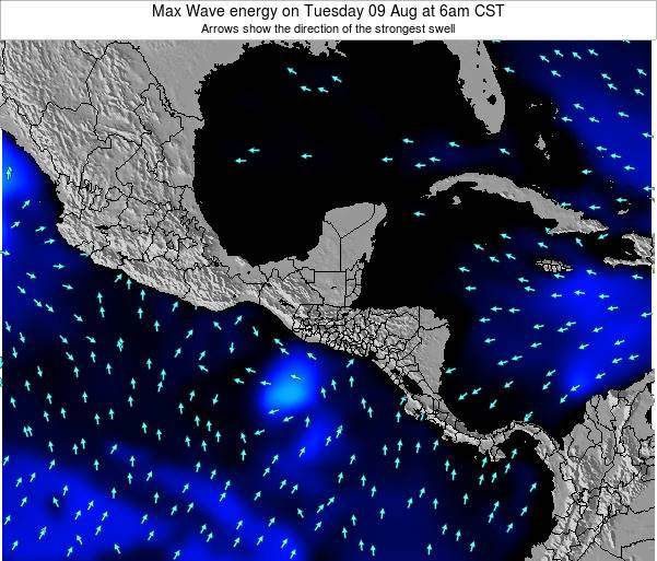El Salvador Max Wave energy on Sunday 03 Aug at 12pm CST