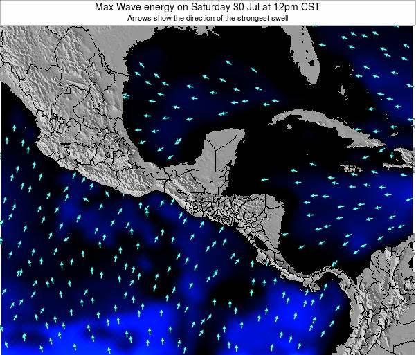 El Salvador Max Wave energy on Monday 17 Mar at 6am CST