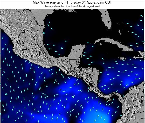 Honduras Max Wave energy on Friday 21 Jun at 6pm CST
