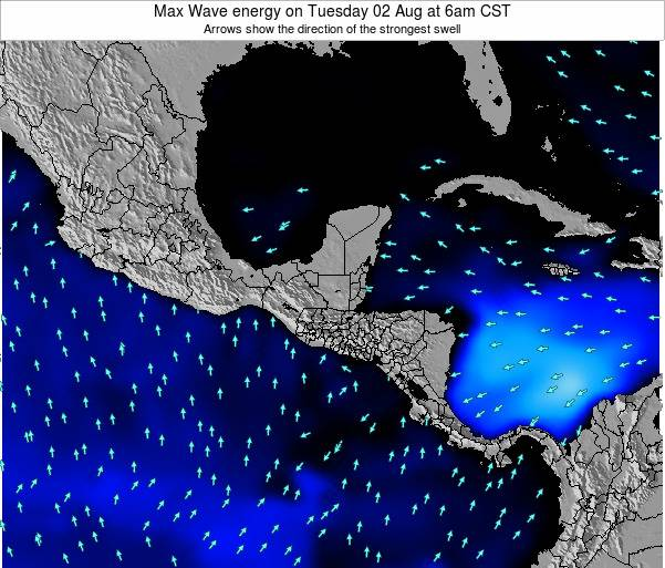 Honduras Max Wave energy on Friday 24 May at 12pm CST